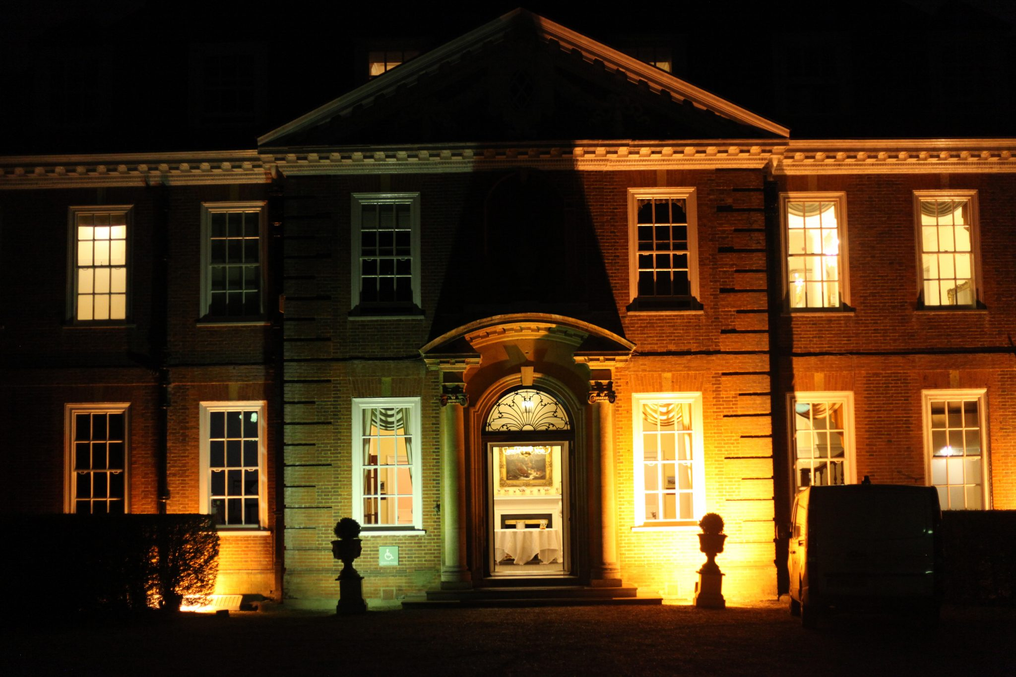 Hunton Park at night