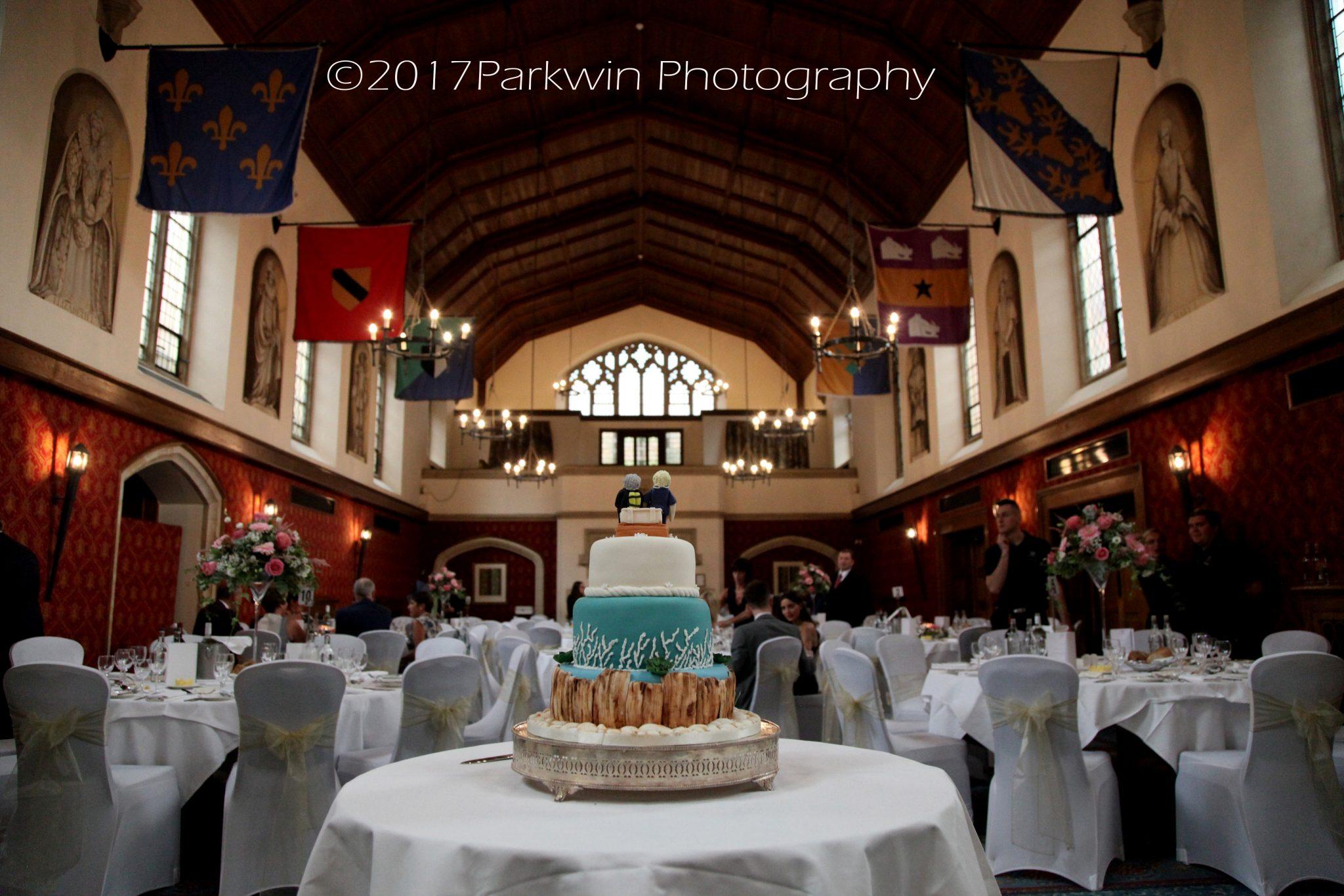 cake and wedding breakfast, Poles Hall, Hanbury Manor