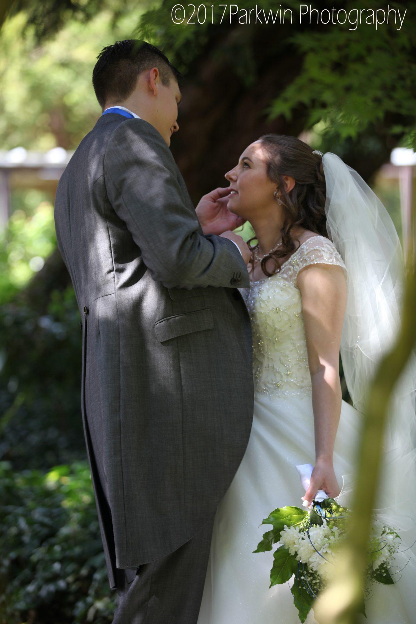 Bride and Groom Hunton Park