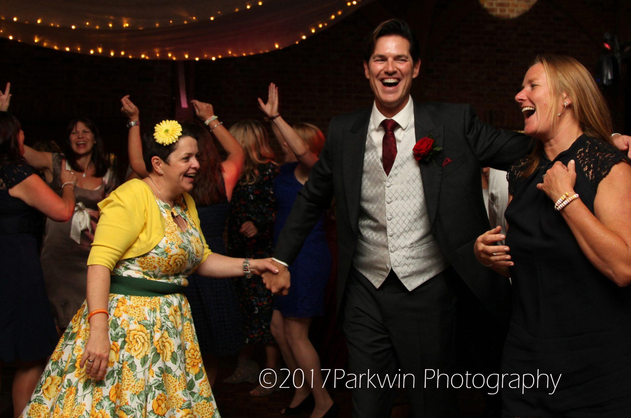 Guests dancing at brocket Hall