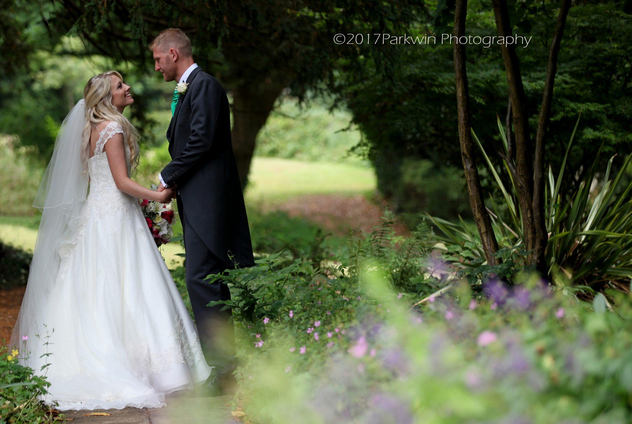bride and groom Hunton Park wedding venue