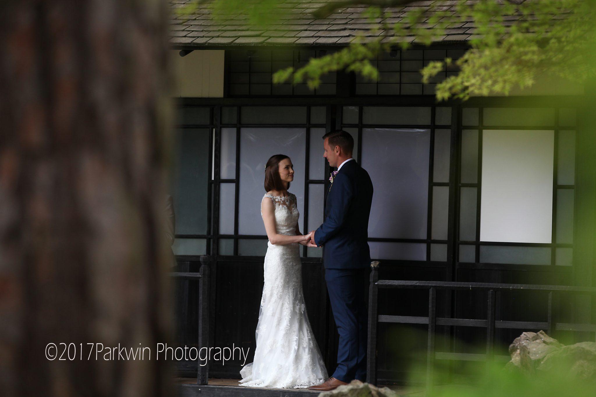 Wedding ceremony Japanese Tea House Fanhams Hall