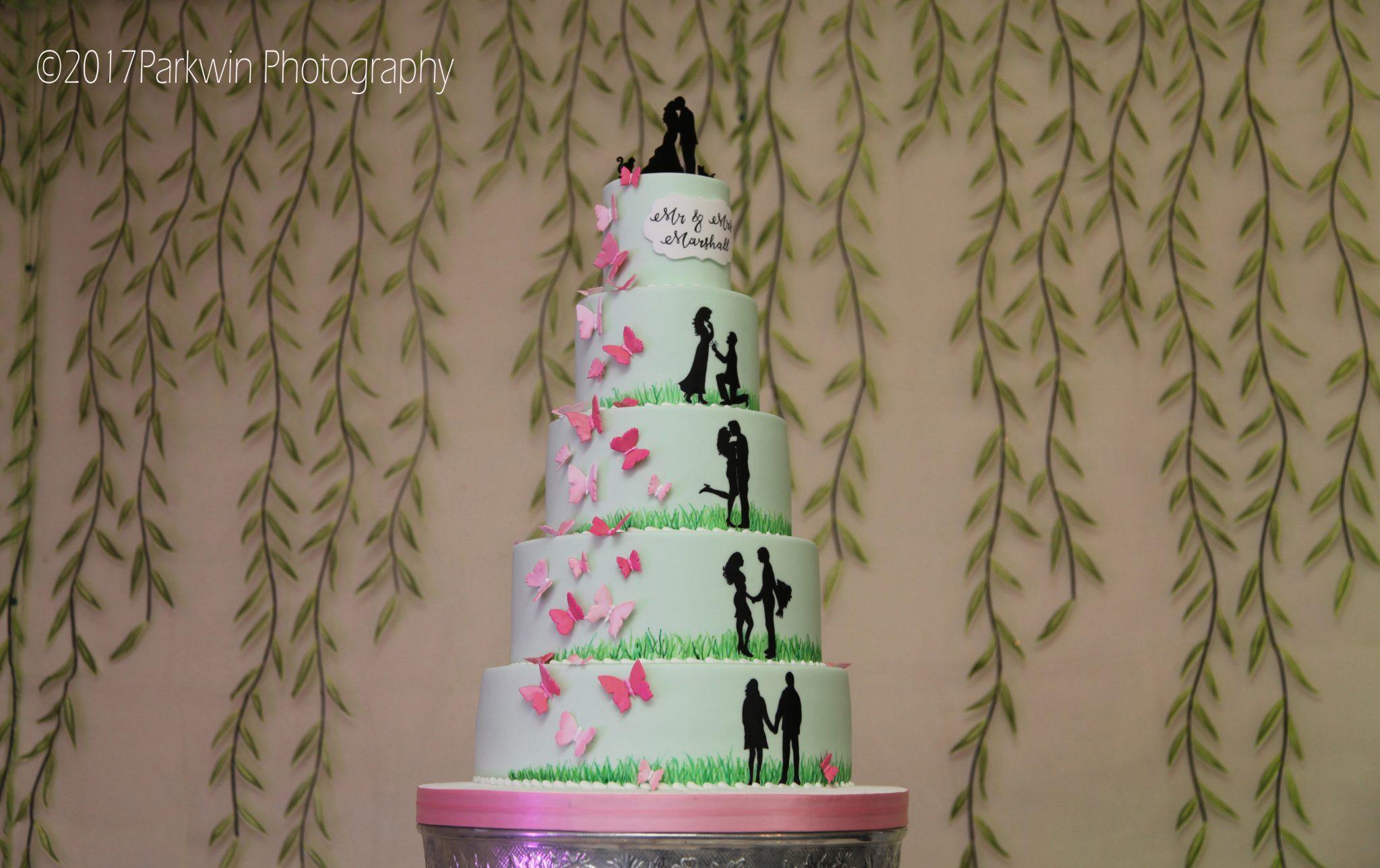 cake at Hunton Park wedding venue