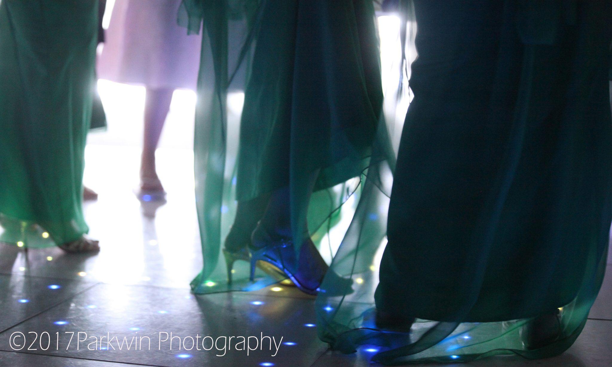 bridesmaids dancing at Hunton Park wedding